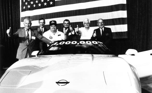 The One Millionth Corvette is Built