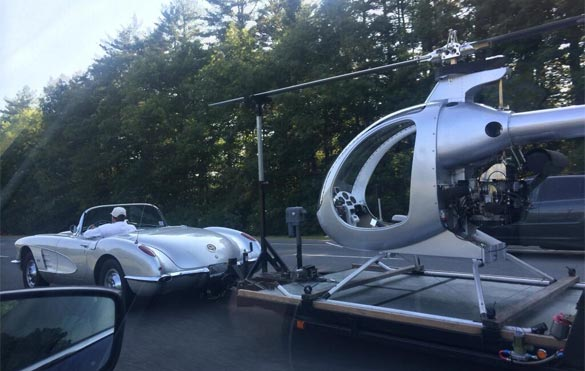 [PIC] Classic Corvette Trailering a Helicopter