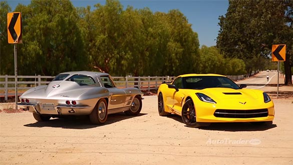 [VIDEO] New vs Classic. C7 Corvette Stingray Compared to 1963 Corvette Sting Ray