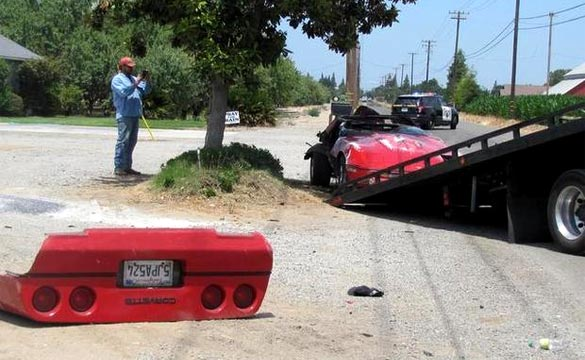 [ACCIDENT] California Man Crashes and Rolls His C4 Corvette