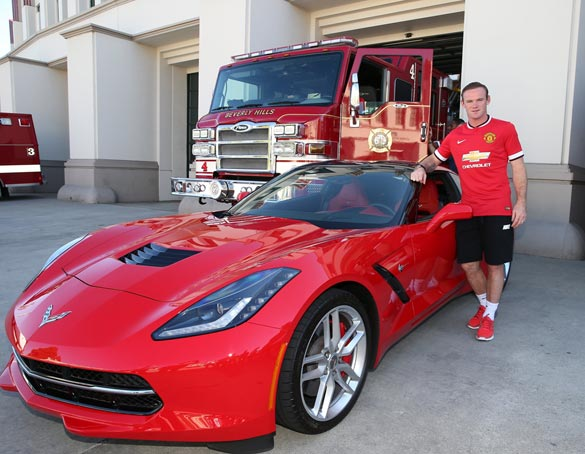 Manchester United FC Players Cruise Beverly Hills In Chevrolet Vehicles