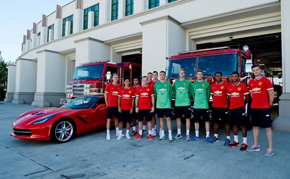 Manchester United FC Players Cruise Beverly Hills in Chevy Vehicles