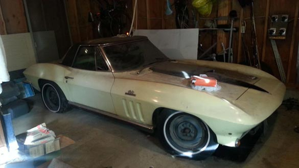Corvettes on eBay: A One-Owner 1966 Corvette Barn Find