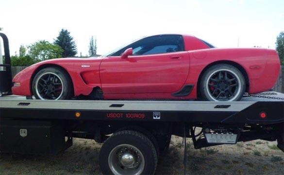 Police Recover Stolen 2003 Corvette Z06 after High Speed Pursuit Ends in Crash