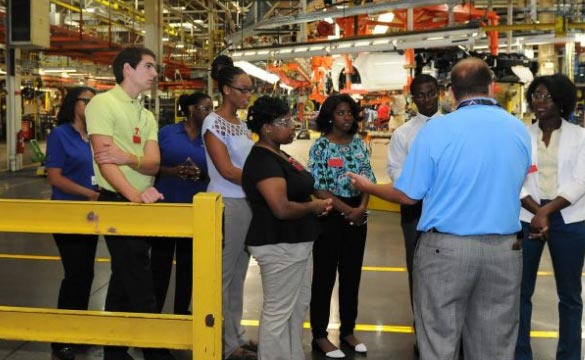 A Group of Aspiring Engineers Visits the Corvette Assembly Plant