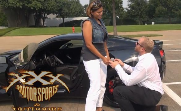[VIDEO] 'Ungrateful Girlfriend' Gets a Marriage Proposal in her Corvette Stingray