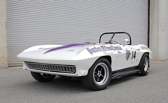 A Rare 1966 Vintage Corvette Racer up for Sale at Mecum Monterey