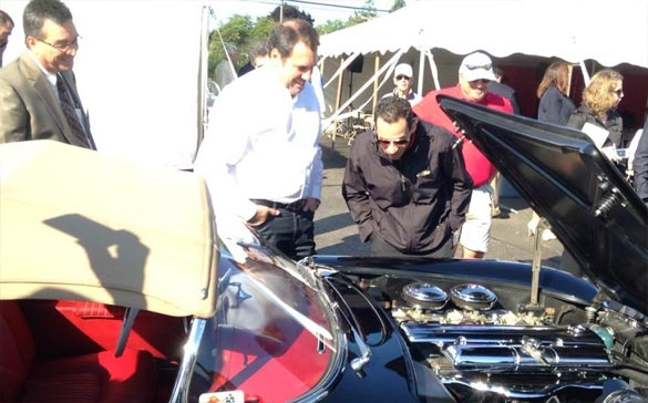 GM's Mark Reuss Shows Off His Restored 1954 Corvette Roadster