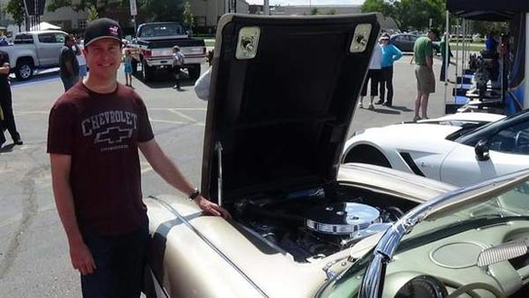 NASCAR's Kurt Busch Brings His 1961 Corvette to the Woodward Dream Cruise