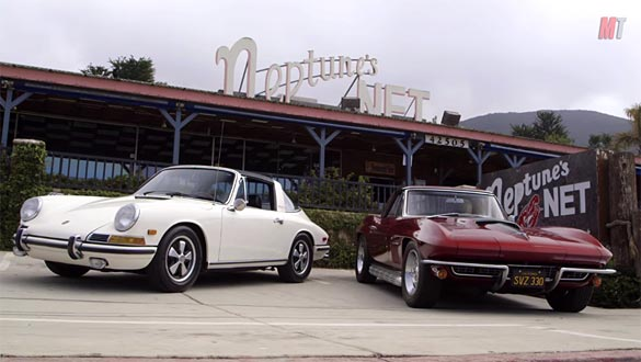 [VIDEO] MotorTend Head 2 Head: 1967 Corvette 427 vs 1968 Porsche 911L