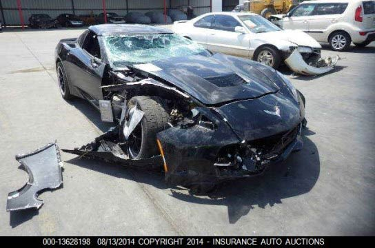 [SAVE THE STINGRAYS] Black C7 Corvette on Forgelines Is Latest Crash Victim
