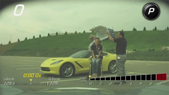 The Ice Bucket Challenge Filmed with the 2015 Corvette Stingray's PDR