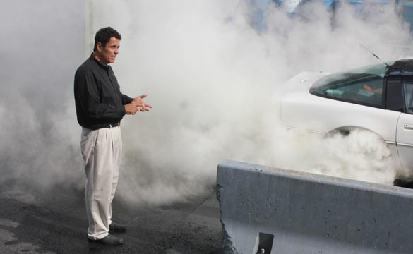 The Burnout Contest at the 2014 Corvettes at Carlisle