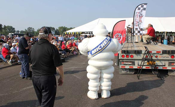 The Michelin Man is at the NCM Motorsports Park Grand Opening Ceremony