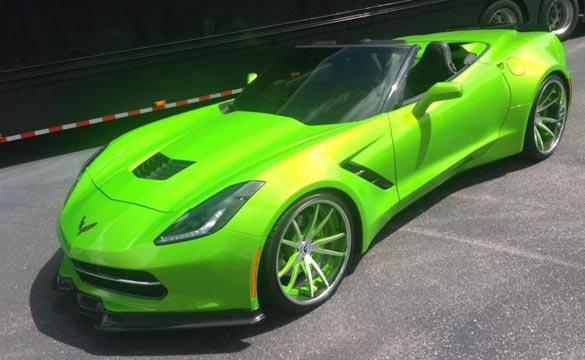[PICS] It's Not Everyday You See a Widebody C7 Corvette in Antifreeze Green