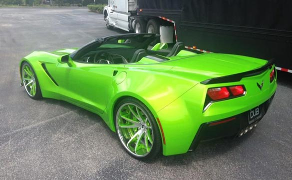 [PICS] Not Everyday You See a Widebody C7 Corvette in Antifreeze Green