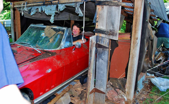 1965 Corvette Rescued from Collapsing Shed