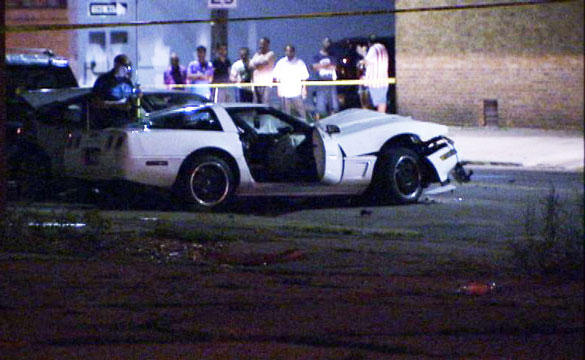 Crash of Stolen C4 Corvette Sends Two Car Thieves to the Hospital