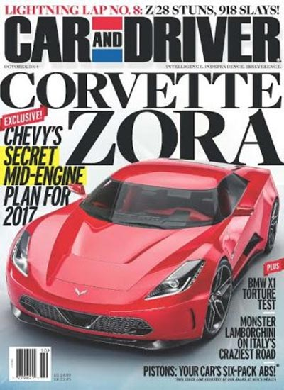 2017 Corvette Zora ZR1 in Car and Driver's October 2014 Issue