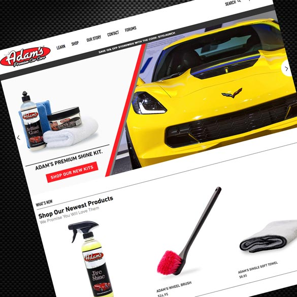 Adam's Polishes Launches New Website