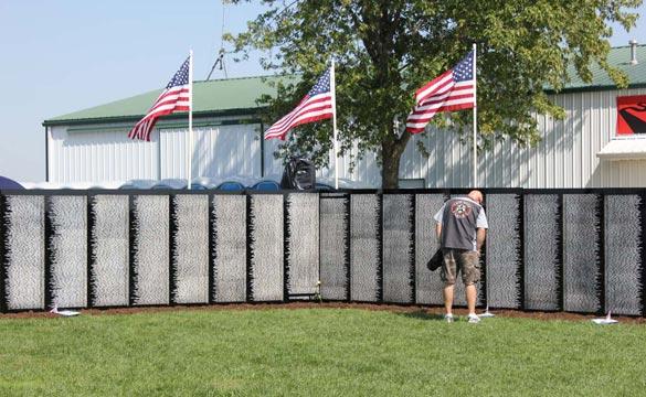 The Vietnam Veterans war memorial at Corvette FunFest