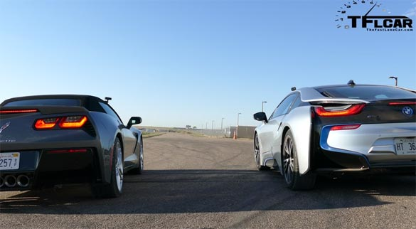 [VIDEO] 2015 Corvette Stingray vs BMW i8 Hybrid
