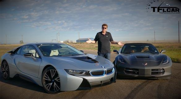 [VIDEO] 2015 Corvette Stingray vs BMW i8 Hybrid