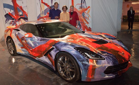 Corvette Stingray Painted for Detroit Art Museum Fundraiser