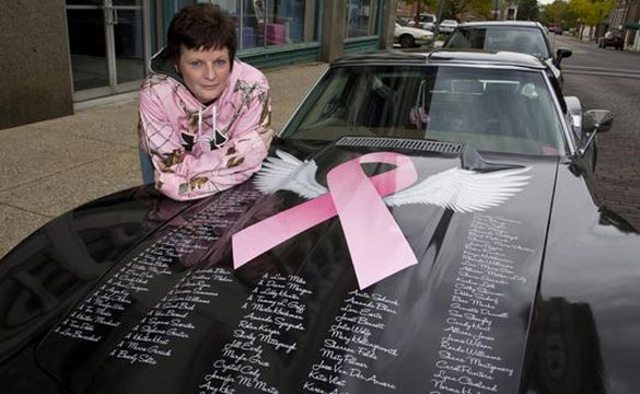 Cancer Survivor Creates Rolling Corvette Billboard to Raise Awareness