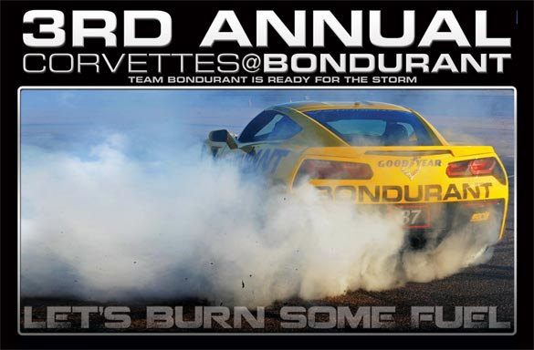 It's Time for the 3rd Annual Corvettes at Bondurant HPDE