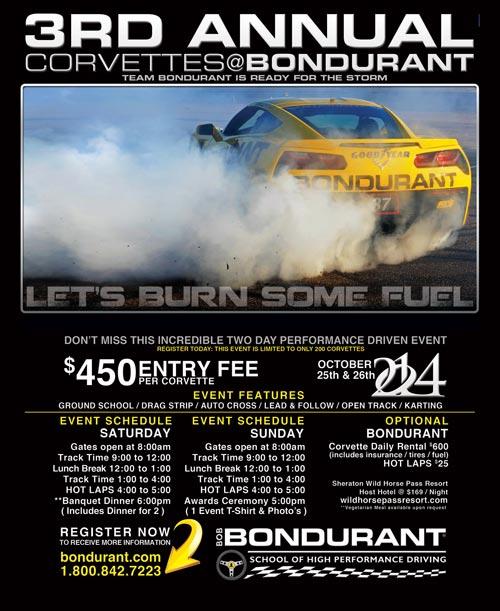 The 3rd Annual Corvettes at Bondurant HPDE