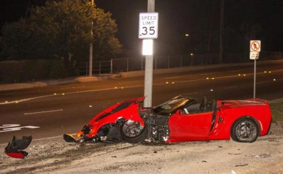 [ACCIDENT] C7 Corvette Stingray Convertible Hits a Parked Car in California