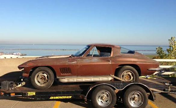 Corvettes on Craigslist: 1967 Corvette Sting Ray Barn Find
