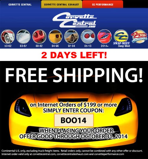 Corvette Central Offering Free Shipping Through Friday