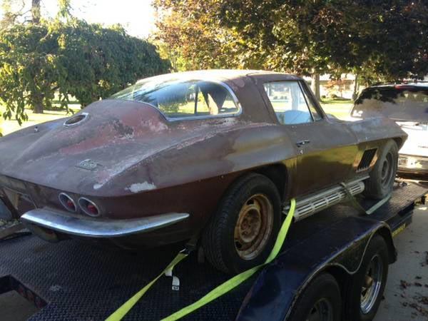 Corvettes On Craigslist 1967 Corvette Sting Ray Barn Find