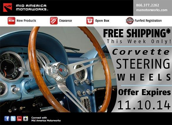 Mid America Motorworks Offering Free Shipping on Corvette Steering Wheels