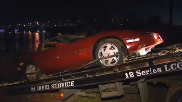 Man Drives Soon to be Ex Wife's C4 Corvette into the Delaware River