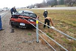 2015 Corvette Z06 Convertible Wrecks in the Rain in Mississippi