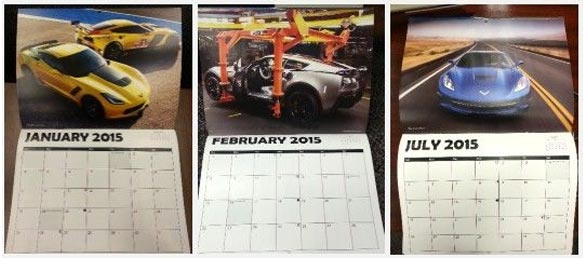 Corvette Assembly Plant Offering a 2015 Corvette Calendar