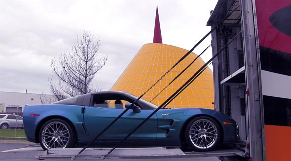 [VIDEO] The 2009 Corvette ZR1 Blue Devil Returns Home to the National Corvette Museum