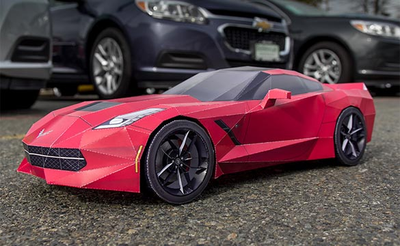 Get Crafty with a Papercraft Replica of the Corvette Stingray