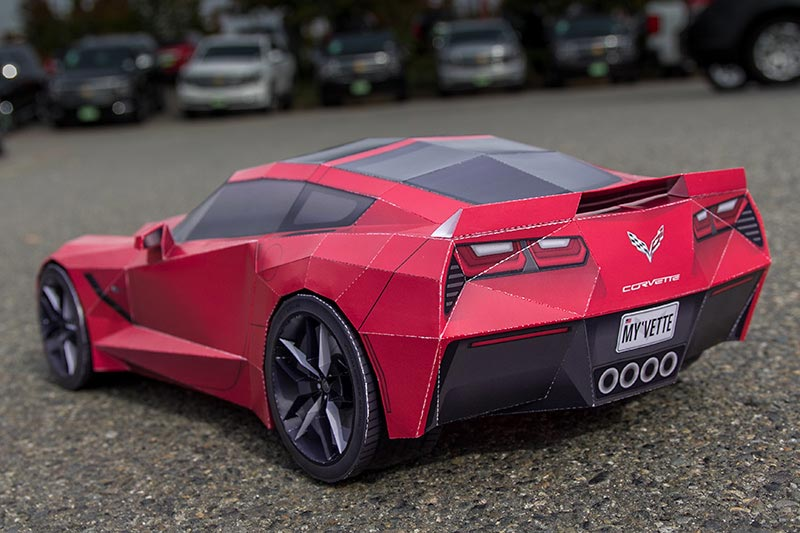 Get Crafty With A Papercraft Replica Of The Corvette