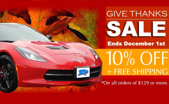 Zip Corvette's Annual Give Thanks Sale