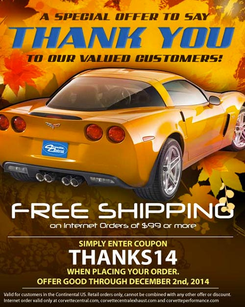 Corvette Central Says Thanks to Customers With A Special Offer