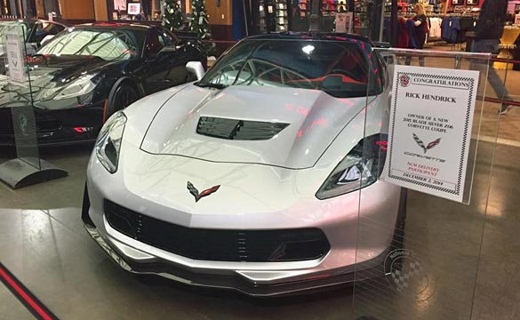 Rick Hendrick Takes Delivery of his VIN 003 2015 Corvette Z06 at the Corvette Museum
