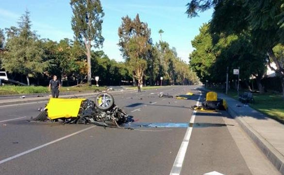 [SAVE THE STINGRAYS] This Yellow Corvette Stingray was Cut in Half after a Huge Crash