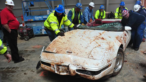 General Motors to Restore the 1992 'One Millionth' Corvette Rescued from Sinkhole