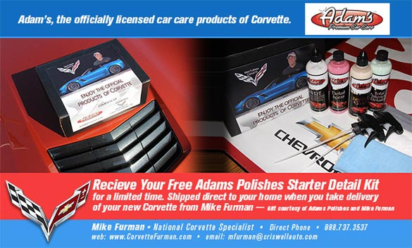 Free Adam's Polishes Starter Detail Kit With Every Corvette Purchase