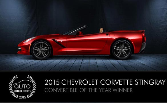 2015 Corvette Stingray Wins Auto123's Convertible of the Year Award