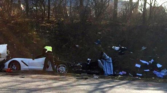 ACCIDENT  Corvet...I 71 Accident Ohio